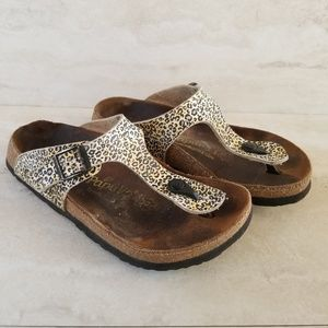 Birkenstock Papillio Leopard Gizeh Thong Sandal 37